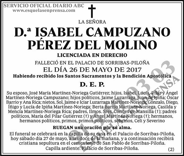 Isabel Campuzano Pérez del Molino